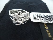 Alex and Ani  Sterling Silver HAND OF FATIMA SPOON RING New W/ Tag Card & Box