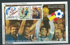 BOLIVIA , SPAIN , SOCCER , SPORTS , 1982 WORLD CUP , SS , IMP, $$$$ , MNH