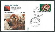 1984 VATICANO VIAGGI DEL PAPA PAPUA GUINEA MOUNT HAGEN - SV