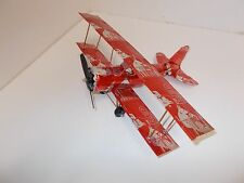Aluminum soda can handcrafted airplane/RED BULL RED/BI-PLANE