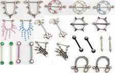 25 end of range clearance nipple bars rings bargain wholesale body jewellery