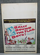 RALLY ROUND THE FLAG BOYS original 1959 movie poster JOAN COLLINS/PAUL NEWMAN