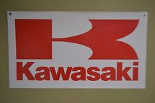 Kawasaki Motorsport BANNER Sign ATV Racing Ninja Vulcan KX MX Advertising  Logo