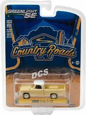 1962 DODGE D-100 PICKUP SUNSET YELLOW COUNTRY ROADS 15 1/64 GREENLIGHT 29850 A