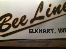 """Bee Line Elkhart, Ind Vintage style Travel Trailer Decal Yellow And Black 17"""""""