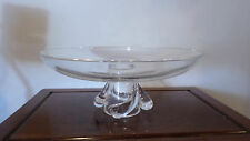 "Large Steuben Glass Signed Footed Compote 13 1/4"" Diameter"