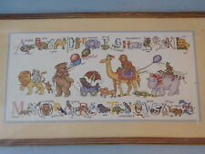 JCA Baby Collection Rose Kennedy Counted Cross Stitch Alphabet Animals Parade