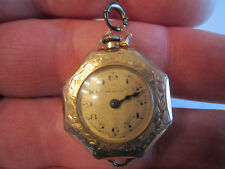 1920'S AMERICAN BEAUTY POCKET WATCH ON A CHAIN - DOUBLE GOLD - GF - WORKS GREAT!