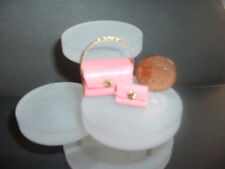 Dolls house miniature  handbag and purse coral leather