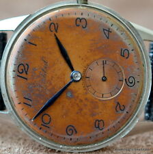 CORTEBERT ANTI-MAGNETIC STAINLESS STEEL Cal 663 15 JEWEL COPPER DIAL W/ PATINA