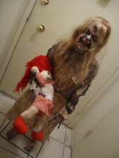 "CYBER MONDAY ZOMBIE GIRL WITH DOLL 50"" STANDING HALLOWEEN PROP."