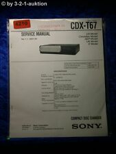 Sony Service Manual CDX T67 CD Changer (#4210)