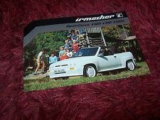 Prospectus / Single sheet brochure OPEL Corsa IRMSCHER Cabrio 1983 //