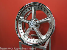Single (1) New AC Schnitzer Type IV Racing Forged Silver - Authentic ACS
