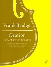 Oration Learn to Play Piano Cello Music Book Frank Bridge WAR REQUIEM