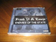 Chicano Rap CD Frank V & Conejo - Enemies of the State - Malow Mac Frost SELO