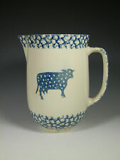 Folk Craft SPONGE by Tienshan Blue Heart/Cow Pitcher 7x7 1/2 in. tall, 2 qt.