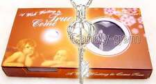 Popular Gift One Box Key pendant Natural Oyster Wish Pearl Necklace set-w3631
