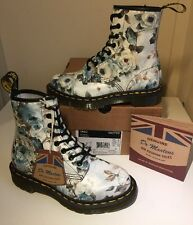 Bnib! Sz3 England Dr.Martens 1460 Victorian Green Rose Leather Boots Eu36