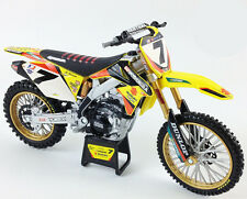NewRay Toys James Stewart Suzuki RMZ 450 Motocross Bike Model - 1/6 Scale
