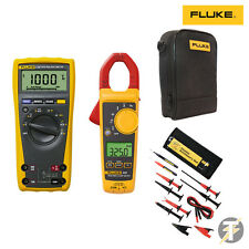 FLUKE 179 TRUE RMS MULTIMETER | 325 CLAMP METER | TLK-225 SUREGRIP | C115 CASE
