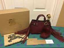Burberry Baby Banner Studded Tote Bag w/Fringe