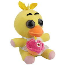 """FNAF Five Nights at Freddy's Yellow Chica with Cupcake 10"""" Plushie Toys Doll NEW"""
