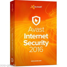 AVAST INTERNET SECURITY 2017/2016 - 3 YEARs(1095days)FOR 1PC ESD (ALL LANGUAGE)