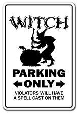 WITCH Parking Sign gag novelty gift funny broomstick halloween girlfriend ghost