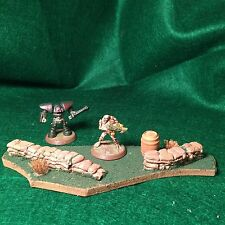 Warhammer 40K Miniature Sandbag Barricade table top gaming terrain, scenery