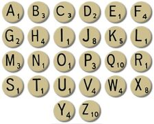 "5x MINI FRIDGE MAGNETS - SCRABBLE LETTERS -  25mm / 1"" Magnets - **CHOOSE ANY 5*"
