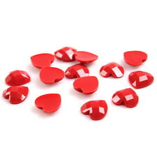 150x 241003 Charm Heart Red Resin Flatback Sew-on Button Embellishment Wholesale