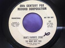 Rare Vocal Group Promo 45 : The Mary Kaye Trio ~ What's Yours ? ~ 20th Century