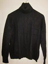 PURSUITS Ltd. 2-Ply 100%Cashmere Turtle Neck Sweater Thick Soft Classic Black M