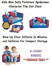 Kids Mini Sofa Furniture Spiderman Character Flip Out Chair ** BID TODAY **