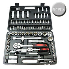 "94PC Tool Torx With Case 1/2"" 1/4"" Socket Set Ratchet Driver Kit Screwdriver Bit"