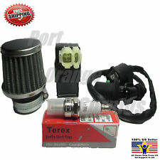 42mm Air Filter Performance CDI Ignition Coil Spark Plug Gy6 PD24J 150cc Scooter