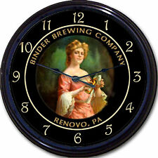 """Binder Brewing Co Renova PA Beer Tray Wall Clock Ale Lager Brew Pub New 10"""""""