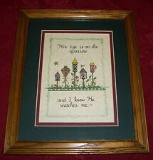 Framed & Matted  Birdhouse Picture
