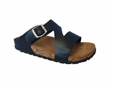 WHOLESALE LOT 18pr Classic Buckle Sandal Platform Soft Footbed Shoe-Revo3 Black