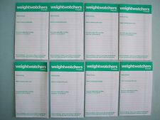 Set of 8 New Weight Watchers Smart Points Weekly Tracker Booklets
