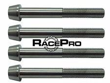 4x RacePro - Natural Tapered Titanium Caliper Bolt for Suzuki GSXR1000 K7 - K8