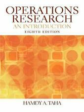 Operations Research : An Introduction by Hamdy A. Taha (2006, CD-ROM /...