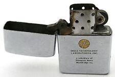 Vintage Zippo Lighter Space Tech Laboratories NASA Rocket TRW Rockwell Northrop