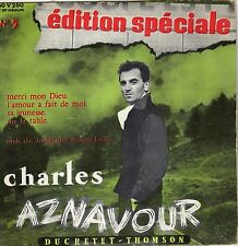 CHARLES AZNAVOUR MERCI MON DIEU FRENCH ORIG EP JO MOUTET