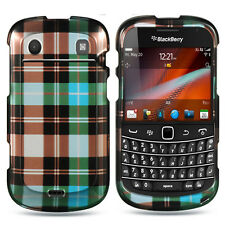 For Blackberry Bold 9930 9900 HARD Case Snap on Phone Cover Blue Checker