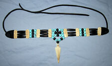 Native American Buffalo Bone and Turquoise Buffalo Bone Arrowhead Choker NWOT