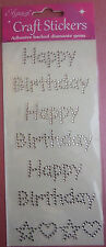 Happy Birthday Sparkly Gems Adhesive / cards scrapbooking/Floristry/Glassware