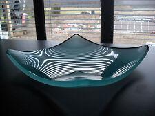 Glasvase Obstvase Dekovase  30x30cm und 15mm stark 3,4 kg schwer Qualität