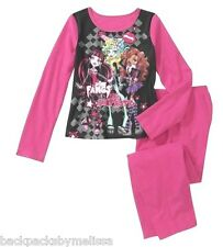 MONSTER High Doll Girl's sz 10/12 PinK Pajamas NeW Long Sleeve Shirt & Pants Pjs